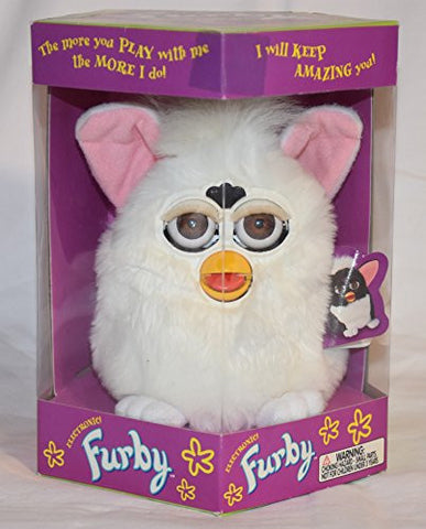 1998 Electronic Furby Plush Model 70-800 ALL WHITE