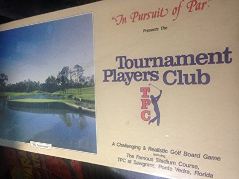 """In Pursuit of Par"" Presents The Tournament Players Club (Certified to be one of 35,000 original copies) ... A Challenging & Realistic Golf Board Game featuring: The Famous Stadium Course, PTC at Sawgrass, Ponte Vedra, Florida"