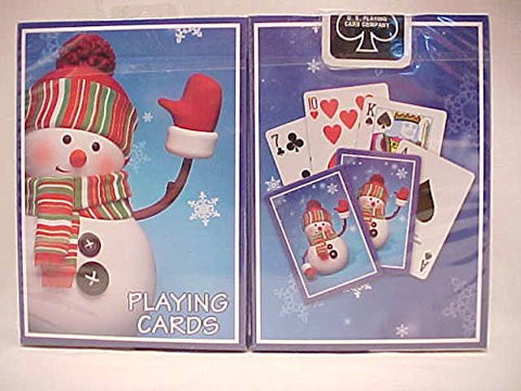 1 Deck Bicycle Snowman Holiday Standard Poker Playing Cards New In Box
