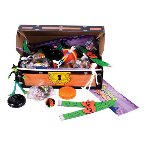 100Pc Halloween Toy Asst Treasure Chest Case Pack 100