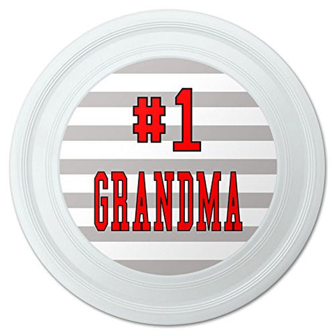 "#1 Grandma Number One Grandmother Novelty 9"" Flying Disc"