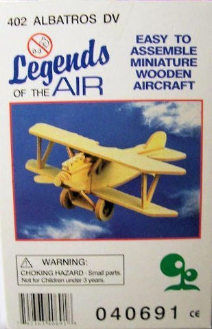 """ABC Products"" - Primitive Plane ~ Wooden 3-D- Aircraft (Albatros DV, Plane Model - Helps Kids Develop Coordination and Problem-Solving Skills)."
