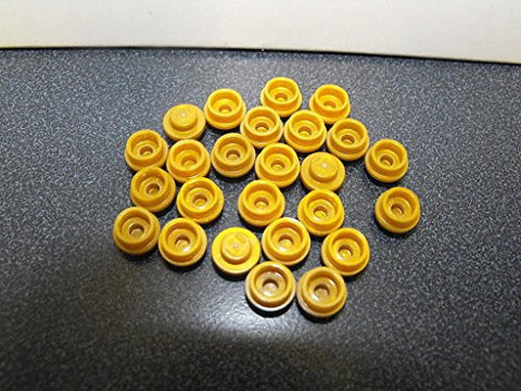 (Ship from USA) Lego Lot Of 25 Pearl Gold Plate, Round 1 x 1 New -ITEM#: G15/uiF982A2