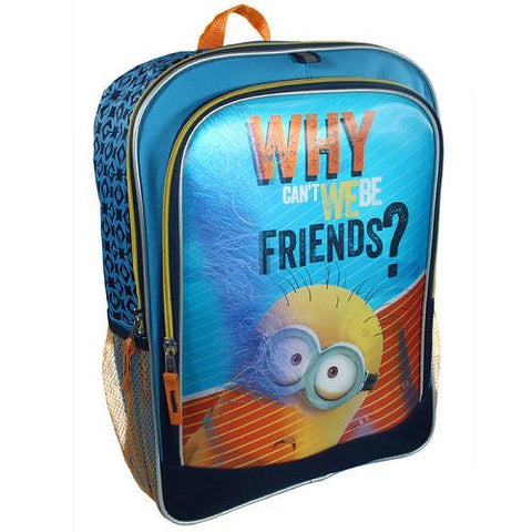 1 X Despicable Me 2 Minion 3D Why Can't We Be Friends? Backpack