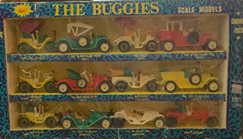 """The Buggies"" Scale Model 12 Pack Collectible CarsVINTAGE 1971"