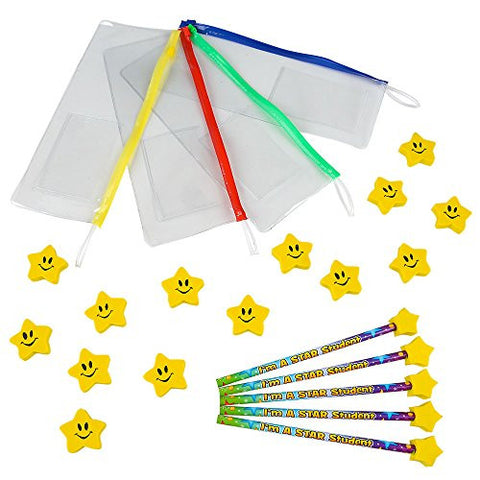 """Star Student"" Classroom Giveaway & Prize Kits! Makes 24 Star Student School Supply kits. By Rhode Island Novelty"