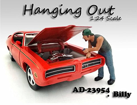 """Hanging Out"" Billy Figure For 1:24 Scale Models by American Diorama 23958"