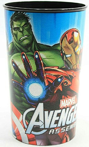 (Pack of 2) Cartoon Character Plastic Drinking Cup (Marvel Avengers)