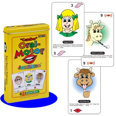"""Can Do"" Oral-Motor Fun Deck Cards - Super Duper Educational Learning Toy for Kids"