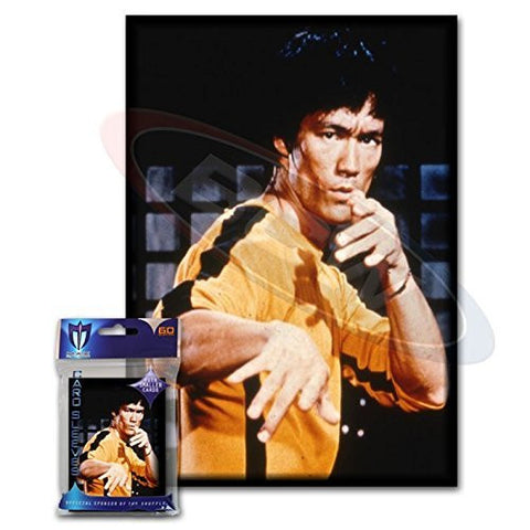 (60) Max Protection Bruce Lee Small Gaming Card Protector Sleeves for Yu-Gi-Oh! Cards