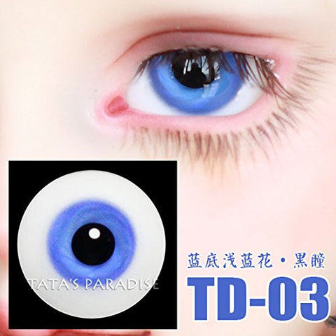 1 Pair of Eyes Eyeballs Round Doll Accessories Doll Eyeballs 14mm 16mm TD-03