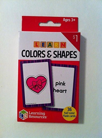 """Learning Resources - Learn Colors & Shapes Flash Cards"" Ages 3+ (36) full-color cards"