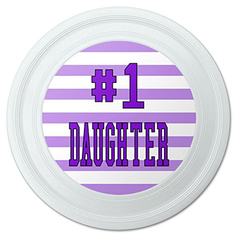 "#1 Daughter Number One Favorite Child Novelty 9"" Flying Disc"