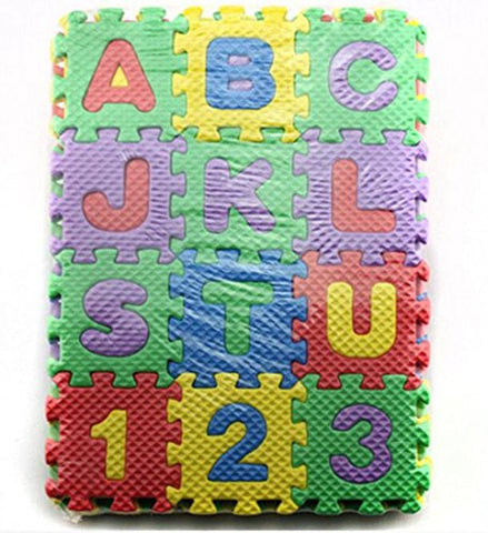36-Piece Foam Mats Alphabet and Number Puzzle Mats Crawling Mats for Kids