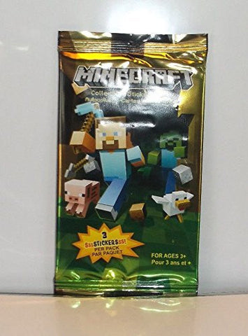 (Ship from USA) Minecraft Collectible Sticker Card Pack lot of 5 New Sealed -ITEM#: G15/uiF982A21346