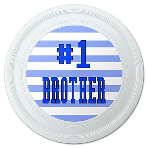 "#1 Brother Number One Favorite Sibling Novelty 9"" Flying Disc"