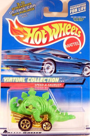 #2000-104 Speed-A-Saurus Virtual Collection Collectible Collector Car Mattel Hot Wheels 1:64 Scale