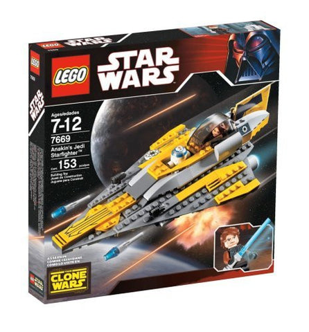"10""L, Anakin's Jedi Starfighter Building Set, 153 Pieces"