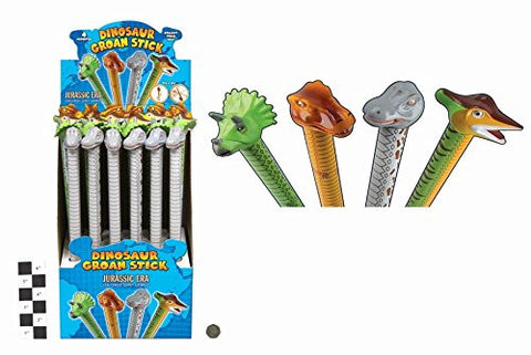 10 X 42cm Dinosaur Groan Tube - Slide Up + Down For Sound - Party Bag Toys