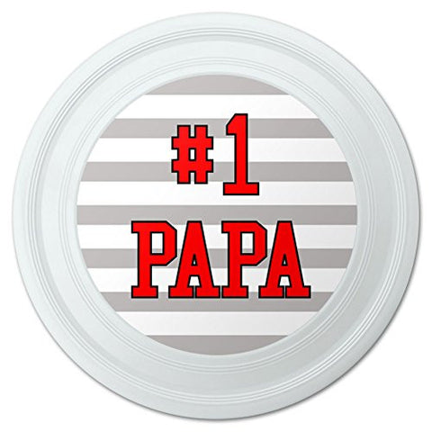 "#1 Papa Number One Dad Father Novelty 9"" Flying Disc"