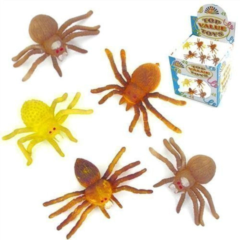 6 x Children Kids Stretchy Spiders Bug Creepy Crawly Party Bag Toy Pinata Fillers