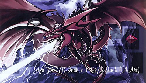 #13 - Yu-Gi-Oh Slifer the Sky Dragon PLAYMAT CUSTOM PLAY, Slifer the Sky Dragon Collection Playmat, Slifer Sky Dragon Collection Playmat | Size 23-7/8-Inch x 13-1/2-Inch (AArt)