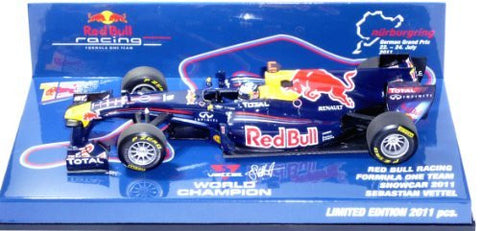 """MINICHAMPS"" 1:43 Red Bull Racing F1 Team 2011 Showcer S. Vettel (Nurburgring bespoke model)"
