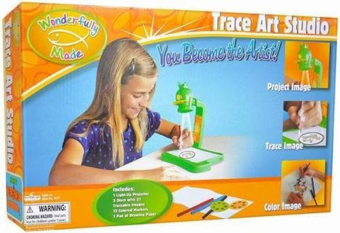 """Wonderfully Made"" Trace Art Studio with Light Up Projector Toy (Ages 3+)"