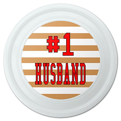 "#1 Husband Number One Favorite Love Novelty 9"" Flying Disc"