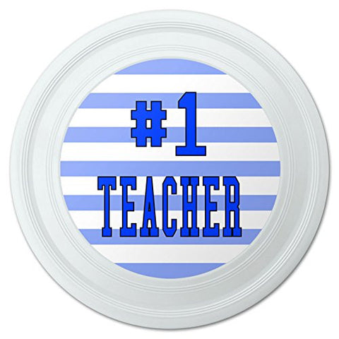 "#1 Teacher Number One School Favorite Novelty 9"" Flying Disc"