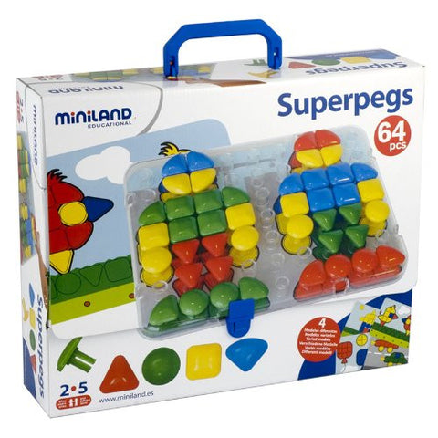 * SUPER PEGS BOARD 4 CARDS & 64 PEGS