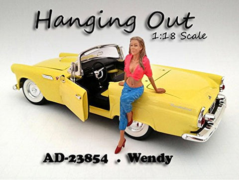 """Hanging Out"" Wendy Figure For 1:18 Scale Models by American Diorama 23854"