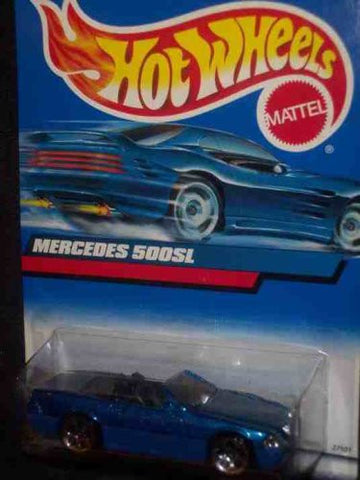 #2000-134 Mercedes 500SL Blue Base Collectible Collector Car Mattel Hot Wheels 1:64 Scale