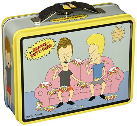 1 X Beavis and Butt-Head Classroom Embossed Metal Lunch Box/ Carry-All