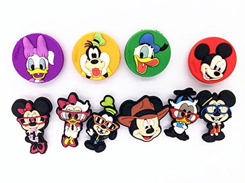 10 Different Disney Mickey Shoe Charms for Croc Shoes & Wristband Bracelet
