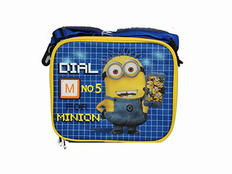 1 X Black and Blue Dial 5 for Minion Despicable Me Lunch Bag