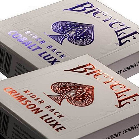 (Ship from USA) MetalLuxe Crimson and Cobalt Bicycle Playing Cards (2 Pack one each color) -ITEM#: G15/uiF982A24303
