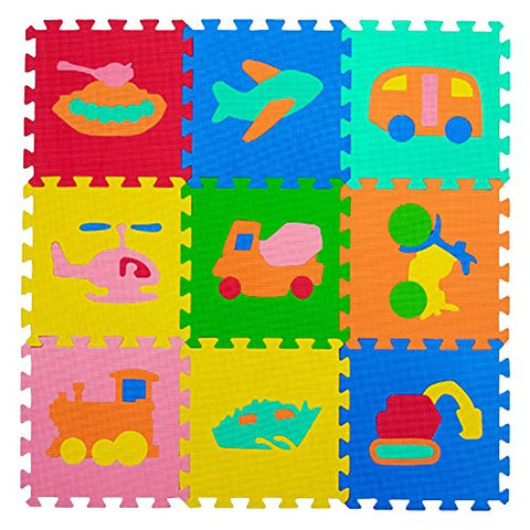 30*30cm Infants and Children Crawling Mat EVA Foam Transportation Puzzle 9pc