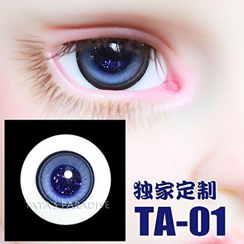 1/3 1/4 1/6 BJD Eyes 14mm/ 16mm blue Eyeballs for SD/MSD/YSD/70CM Ball-jointed Doll TA-01