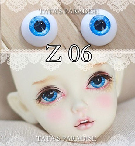 1 Pair BJD Eyeballs Doll Accessories Doll Eyeballs Z06 12mm/ 14mm/ 16mm/18mm