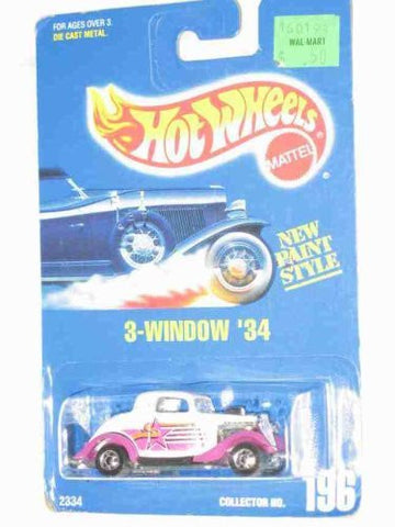#196 3-Window '34 Ford Purple Fenders Basic Wheels Collectible Collector Car Mattel Hot Wheels 1:64 Scale