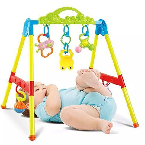 0-1 Year Old Girls Boys Kids Game Bed Fitness Rack,Frog