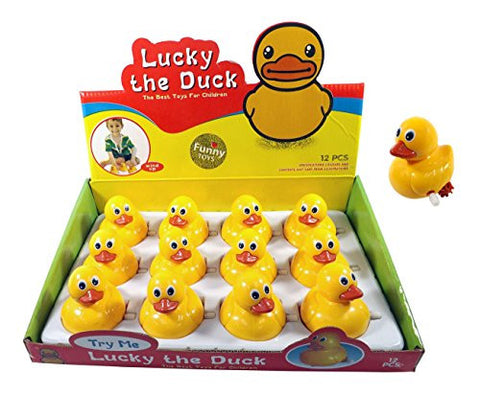 1 Dozen Ducks Wind-Up Mini Duckies Party Favors (Pack of 12)