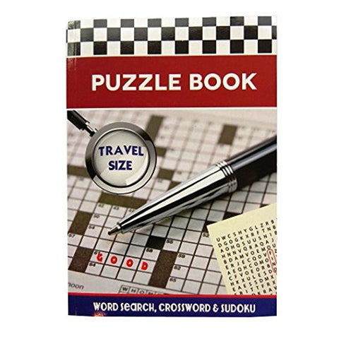 A5 Puzzle Book - Travel Size - 192 Pages - Word Search, Crossword & Sudoku