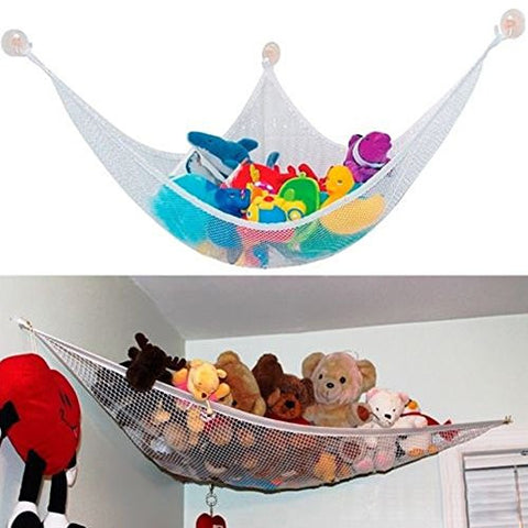 ACTLATI Toys Dolls Stuffed Animals Hammock Net Holder Storage Organiser for Bedroom Bathroom Corner