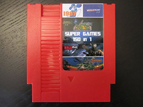 150 in 1 Nintendo NES Game Cartridge! Includes Mario Bros, Megaman, Kirby, Castlevania, TMNT + More!