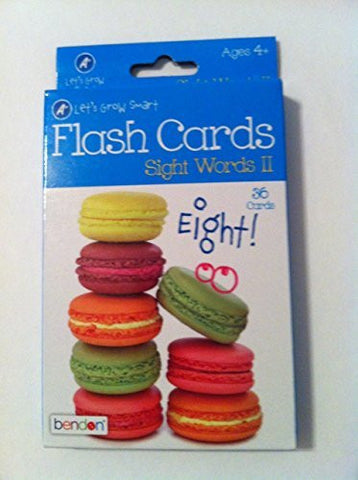 """A+ Let's Grow Smart - Sight Words II Flash Cards"" 36 Cards Ages 4+"