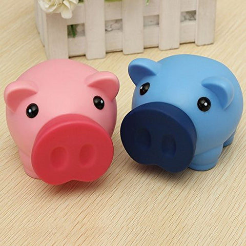 1 PC : Portable Cute Plastic Piggy Bank Saving Cash Coin Money Box Children Toy Kids Gifts Home Collection