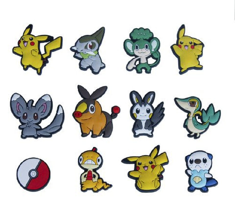 12 New Pokemon Pikachu Shoe Charms for Croc Shoes