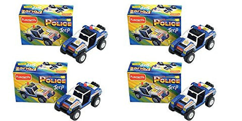 4 x Funskool Police Jeep - Crooks Watch Out! Police On The Prowl